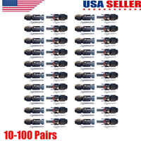 10-100 Pairs MC4 Male Female M/F Wire Cable Connector Set Solar Panel 30A USA
