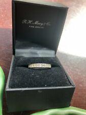 Diamond Channel Band Ring, 10K white gold, 1/2 carat