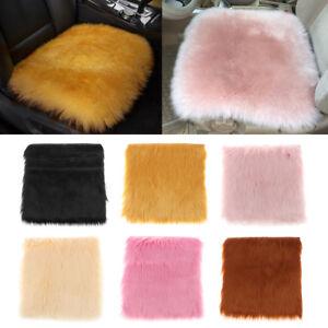 Square Shag Area Rug Fluffy Car Seat Pad Cushion Floor Mat Bedroom Carpet S/L