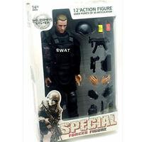 """1/6 Soldier Action Figure 12"""" SWAT Black Uniform   Military Army Suit toys Model"""