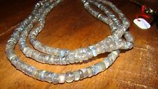 Genuine Labradorite Beads Necklace  3 Line