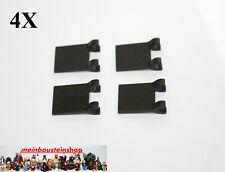 4X Lego® 2335 11055 Fahne, Flagge m. Clips 2X2 Flag Schwarz Black NEU
