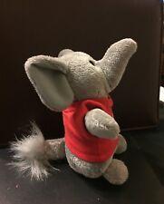 "Chelsea ""Baby Boy Floppy Ear Elephant Teddy"" Stuffed Animal 6"" in. Gray"