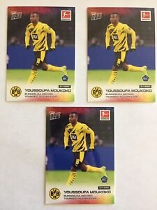 (3) 2020 Topps Now Youssoufa Moukoko Rookie Card RC Lot #45 Bundesliga BVB