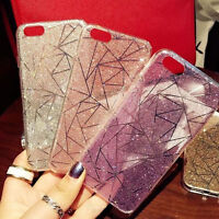 NEW Bling TPU Glitter Crystal Hard Back Phone Case Cover For iPhone 7 6S Plus