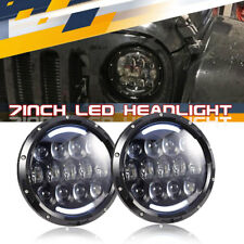 "FIT Jeep Renegade 7""Angel Eyes LED QUAKEWORLD Projector  Headlight High/Low DRL"