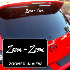 Zoom Zoom Mazda decal sticker vinyl Mazdaspeed 3 6 Protege Miata