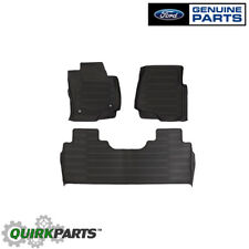 2017 Ford Super Duty Tray Style Molded Black Floor Mats 3 Piece Crew Cab OEM NEW