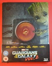 NEW+SEALED 3D Guardians of the Galaxy Steelbook Vol 2 Blu-ray UK LTD Edition