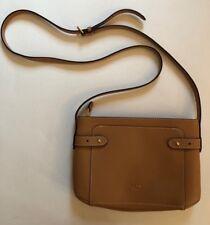 Lauren By Ralph Lauren Tan Leather Crossbody Bag EUC