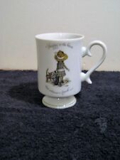 "vintage HOLLY HOBBIE pedestal coffee, tea cup ""happy is the home that welcomes a"