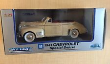 WELLY 1941 Chevrolet Special Deluxe Convertible 1:25 Die Cast It/52