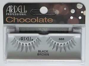 (LOT OF 10) Ardell Professional Lashes Chocolate Black Brown #888
