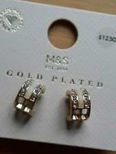 M&S Chunky Gold Plated 3/4 Hoop Earrings
