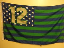 SEATTLE SEAHAWKS 12 TH MAN 3 X 5 FT FLAG W/ GROMMETS NFL OFFICAL PANTONE COLORS