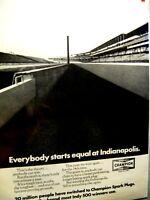 "Indianapolis 500 1972 Champion Spark Plug Original Print Ad-9 x 11"""