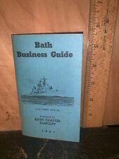 Bath MAINE BUSINESS GUIDE 1961 Pocket Size.