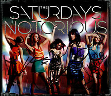 THE SATURDAYS - NOTORIOUS / NOT THAT KINDA GIRL 2011 UK AUTOGRAPHED CD SINGLE