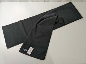 Lands End Mens Thermacheck 200 Fleece Scarf Black - Small Dirt Mark One Size NWT
