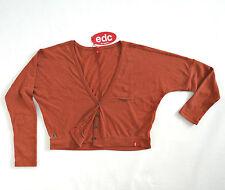 edc by Esprit Fledermaus Pullover Strickjacke Gr. S mit Knöpfen kurz NEU