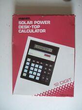 Maxim Solar Power Desk-Top Calculator.