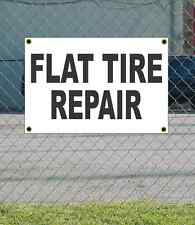 2x3 FLAT TIRE REPAIR Black & White Banner Sign Discount Size & Price FREE SHIP