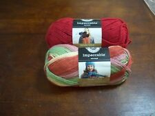 (2)Yarn:Impeccable 4.5 Oz  Yarn Acrylic Cherry(1),3.5 Oz Summerset (1) (#413-Z)