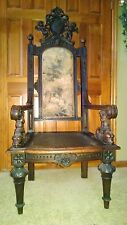 MONUMENTAL ANTIQUE GERMAN THRONE CHAIR CAME FROM BERLIN GERMANY