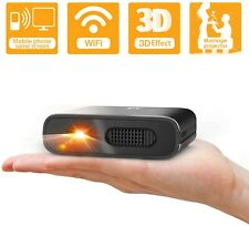 Mini Projector Artlii Portable Wifi DLP HD 3D Pico Pocket Projector Rechargeable