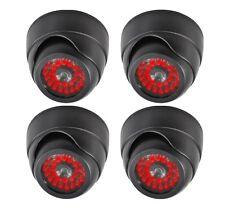 4 PACK Indoor Dummy Fake Black Dome Security Camera Cameras,30 Illuminating LEDs