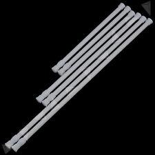 2 Pcs Telescopic Shower Curtain Rail Extendable Pole Rod Bath No Tool Requir