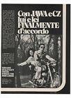 Pubblicità 1971 JAWA 350 CALIFORNIAN MOTO MOTOR advert werbung publicitè reklame