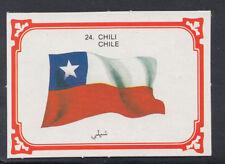 Monty Gum 1980 Flags Cards - Card No 24 - Chile (T620)
