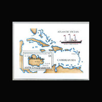Barbuda, Sc #763, MNH, 1986, S/S, Ships, Map, FGDD-A