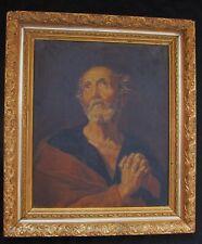Magnifique portrait de St Pierre  fin du XIX e ou début du XX e siècle