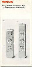 Minox pieghevole accessori in italiano 1973 E548