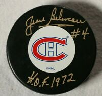 Jean Beliveau Signed Autographed Montreal Canadiens Puck Beckett COA NHL HOF