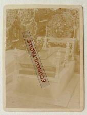 CDV PHOTO FAMILLE FAGOT GRANDHOMME TOMBE CIMETIERE  M568