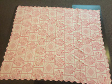 "Hand Woven Tablecloth /Coverlet/Textile Rectangular 72"" x 84""(approx) PINK 1940s"