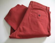 Dockers Mens Stretch Straight Fit Washed Khaki Pants D2 Sutton Red Sz 34x29-NWT