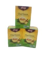 3x(48 Tea Bags)Yogi Organic CHAI Green Tea Discontinued Best Before 02/24/2022