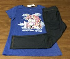 NEW Girl's short sleeve Legging Outfit Size 5/6