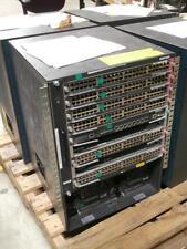 Cisco Switch WS-C6509-E Chassis w/2x WS-CAC-6000W Powers & 7x WS-X6148A-GE-45AF