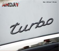 E469 Turbo Power Emblem Badge auto aufkleber 3D Schriftzug car Sticker schwarz
