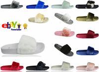 SALE New Womens Size Flat Farrah Rubber Slider Mules Fur Slipper Rihanna Sandals