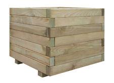 vidaXL Planter Square 50 X 50 X 40 cm Green Impregnated Wood Garden Planters Pots