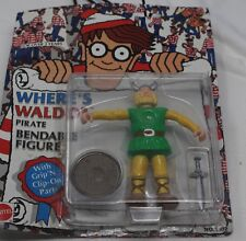 VINTAGE WHERE'S WALDO  PIRATE  BENDABLE  FIGURE