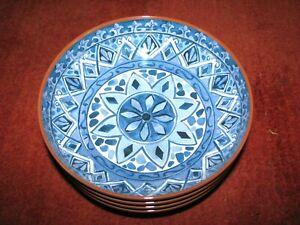 Set of (4) TOMMY BAHAMA  Salad Bowls (100% Melamine) Southwestern Tiles