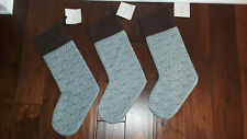 NWT Set Of 3 Restoration Hardware Silk Quilted Stockings