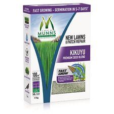 1.1kg VALUE KIKUYU - EMERALD. Grass Lawn Seed Drought Sun Wear & Shade Resistant